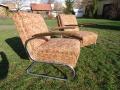 2 Stahlrohrsessel Model K411, 2 easy-chairs bauhaus Thonet
