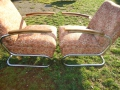 Antik Möbel 2 Stahlrohrsessel Model K411, 2 easy-chairs