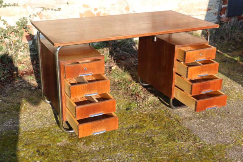 30er Jahre Stahlrohr Schreibtisch4