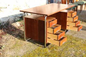 30er Jahre Stahlrohr Schreibtisch5