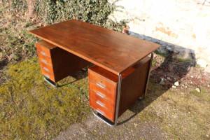 30er Jahre Stahlrohr Schreibtisch6