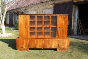 Bücherschrank Antik Möbel - Nussbaum 1