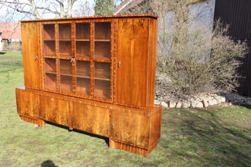 b cherschrank antik m bel nussbaum art deco antik. Black Bedroom Furniture Sets. Home Design Ideas