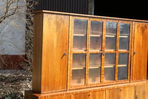 Bücherschrank Antik Möbel - Nussbaum ART DECO