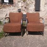 2 Stahlrohrsessel  Mücke Melder  Vintage Möbel