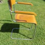 Stuhl Freischwinger Stahlrohrmöbel Armlehnenstuhl Bauhaus um 1930 (2)