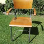 Stuhl Freischwinger Stahlrohrmöbel Armlehnenstuhl Bauhaus um 1930 (3)