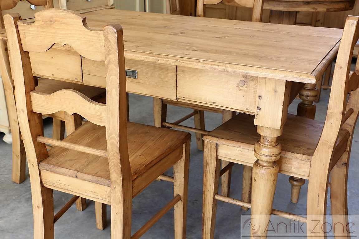 Esstisch Tisch Massivholz Fichte | Bauernmöbel | Antik Zone.at