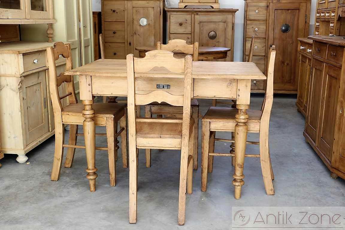 Esstisch Tisch Massivholz Fichte Bauernmobel Antik Zone At