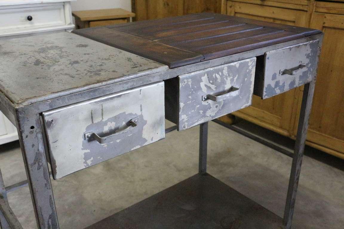 industrial design schreibtisch antik. Black Bedroom Furniture Sets. Home Design Ideas