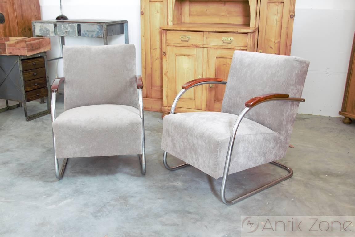 stahlrohrsessel m cke melder antik. Black Bedroom Furniture Sets. Home Design Ideas
