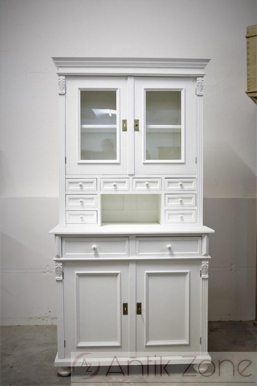 k chenbuffet kredenz k chenschrank wei antik. Black Bedroom Furniture Sets. Home Design Ideas