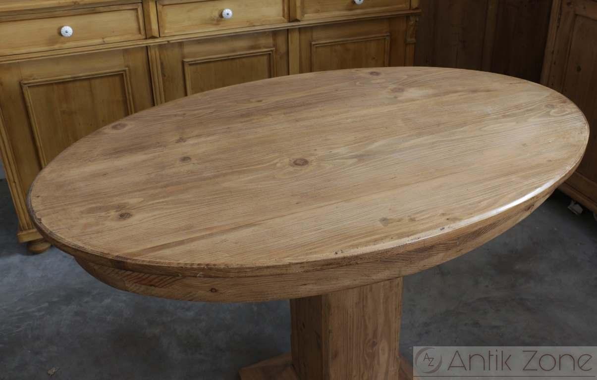 Ovaler tisch bauerntisch beistelltisch antik for Ovaler tisch