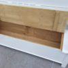 Antike Holzbänke weiss (7)